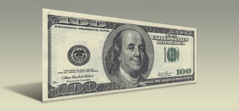 Smiling Ben Franklin. US Hundred Dollar bill with Smiling Ben Franklin Royalty Free Stock Photo