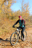 Smiling bicyclist Stock Photo