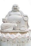 Smiling Big Buddha Statue isolated Stock Image
