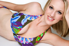 Smiling Bikini Woman Royalty Free Stock Photos