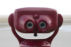Smiling binoculars. Binoculars giving a smiling head Stock Photo