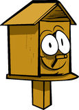 Smiling birdhouse Stock Photos