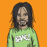 Smiling black man with dreadlocks. Vector illustration of smiling black man with dreadlocks. Easy-edit layered vector EPS10 file scalable to any size without Royalty Free Stock Photography