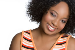 Smiling Black Woman Stock Photography