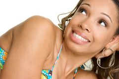 Smiling Black Woman Stock Photo