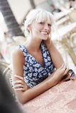 Smiling blond Royalty Free Stock Photography