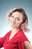 Smiling Blond Caucasian Woman Stock Photography