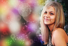 Smiling blond girl Royalty Free Stock Photography