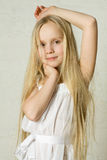Smiling blond girl Stock Photography