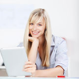 Smiling blond lady Royalty Free Stock Images