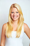 Smiling blond teenager Stock Image