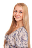 Smiling blond woman Royalty Free Stock Images
