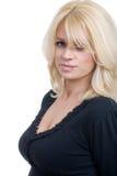 Smiling blond woman portrait Stock Photos