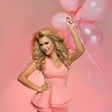 Smiling blonde beautiful woman. Royalty Free Stock Image