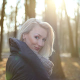 Smiling blonde beauty. Stock Photography