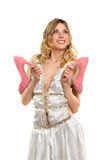 Smiling blonde in dress Stock Image
