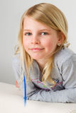 Smiling blonde girl Royalty Free Stock Photo