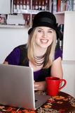 Smiling blonde girl Stock Photos