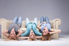 Smiling blonde girls. Royalty Free Stock Image