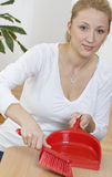 Smiling blonde housewife Stock Images