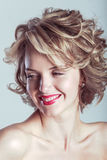 Smiling blonde woman glamour portrait Royalty Free Stock Photo