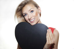 Smiling blonde woman portrait. Royalty Free Stock Photos