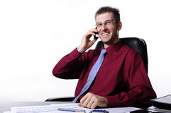 Smiling boss Royalty Free Stock Images