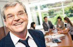 Smiling boss Royalty Free Stock Photography