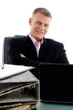 Smiling boss looking at you Royalty Free Stock Image