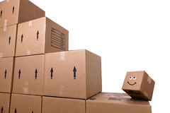 Smiling Box Stock Photo