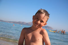 The smiling boy Royalty Free Stock Images