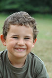 Smiling boy. Outdoor portret of smiling boy royalty free stock image