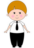 Smiling boy. Cartoon character Royalty Free Stock Photo