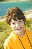 The smiling boy royalty free stock photography