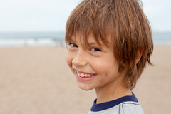 Smiling boy. Portrait of a cute boy smiling Royalty Free Stock Photo