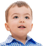 Smiling boy. On a white background Stock Image