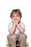 Smiling boy. Shot of a four year old boy on white Royalty Free Stock Images