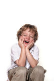 Smiling boy. Shot of a four year old boy on white Stock Photography