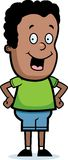 Smiling Boy. A smiling cartoon boy standing Royalty Free Stock Photography