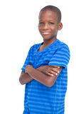 Smiling boy with arms crossed Stock Image
