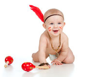 Smiling boy baby  as Indian boy Stock Photography