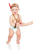 Smiling boy baby  as Indian boy Royalty Free Stock Photos
