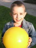 Smiling boy with the ball Stock Photo