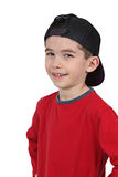 Smiling boy in baseball cap Royalty Free Stock Image