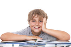Smiling boy with  book Royalty Free Stock Photography