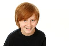 Smiling boy with braces looking at camera Royalty Free Stock Image