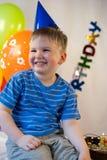 Smiling boy celebrate birthday Royalty Free Stock Photo