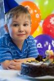 Smiling boy celebrate birthday Stock Photography