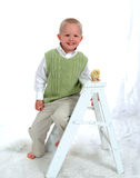 Smiling Boy and chicken Royalty Free Stock Photos