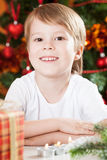 Smiling boy in Christmas Royalty Free Stock Photo